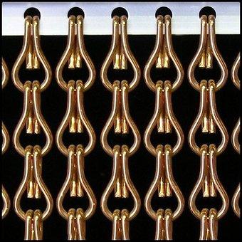 Kettinggordijn Liso ® Kettenvorhang | Fliegenvorhang gebrauchsfertig 100 x 260 Bronze