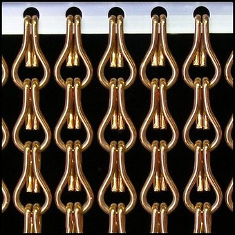 Kriska ® Kettenvorhang | Fliegengitter gebrauchsfertig 100 x 260 Bronze