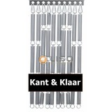 vliegengordijn Liso ® Fliegenvorhang-Silber - fix und fertig 92 x 209