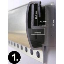 Kettinggordijn Liso ® Extra enger Kettenvorhang Schwarz: Sonderanfertigung   Preis / m²