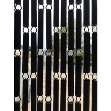 Liso ® Vliegengordijn Zwart Verspringend - kant en klaar 92 x 209
