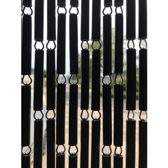 Liso ® Vliegengordijn Liso kant en klaar 92 x 209 Zwart Verspringengd