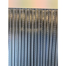 Merkloos Retro decoratiegordijn Cinta Transparant/zwart 100x230  kant en klaar-OUTLET