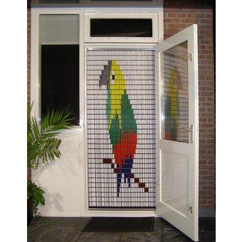 Liso ® 010 Fliegenvorhang mit Papagei - fertig 92 x 209 cm