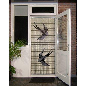 Liso ® 012 Fliegenvorhang mit Schwalben - fertig gemacht 92 x 209 cm