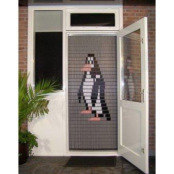Liso ® 018 Vliegengordijn met Pinguin - kant en klaar 92 x 209 cm