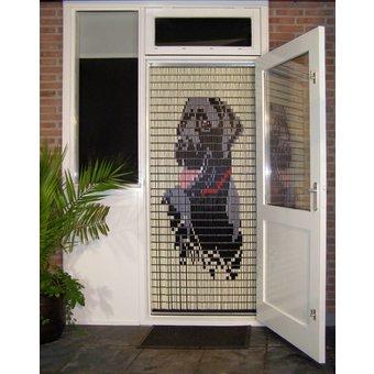 Liso ® 032 Fliegenvorhang mit Labrador - fertig gemacht 92 x 209 cm