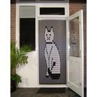 Liso ® 035 Fliegender Vorhang mit Katze - fertig 92 x 209