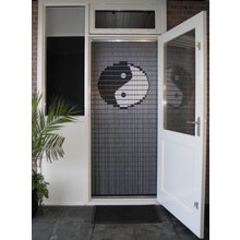 Liso ® 038 Vliegengordijn met Yin Yang - kant en klaar 92 x 209