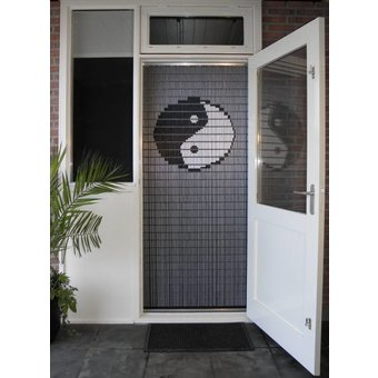 Liso ® 038 Vliegengordijn met Yin Yang - kant en klaar 92 x 209 cm