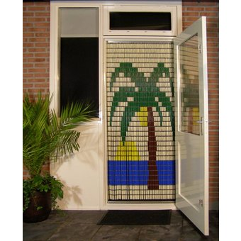 Liso ® Vliegengordijn met Palmboom - Doe-het-zelf pakket. Prijs per / m²