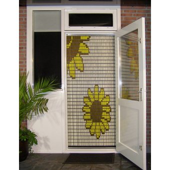 Liso ® Vliegengordijn DHZ-Pakket Liso® Bloemen - Doe-het-zelf pakket. Prijs per / m²
