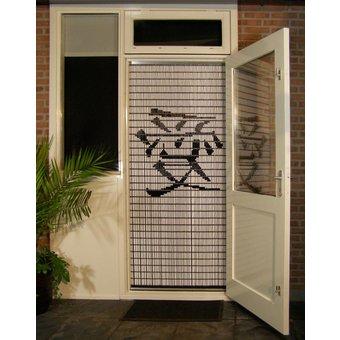 Liso ® Fliegenvorhang DIY-Paket Liso® 92 x 209 Chinesisches Schriftzeichen: Love - Do-it-yourself-Paket. Preis pro m²