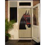 Liso ® 072 Fliegenvorhang mit friesischem Pferd - Do-it-yourself-Paket | Preis / m²
