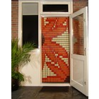 Liso ® 077 Fliegenvorhang mit Orangenblüten - Do-it-yourself-Paket. Preis pro m²