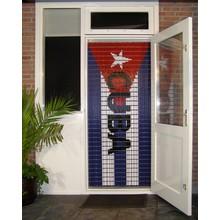 Liso ® 108 Vliegengordijn met Cubaanse vlag - Doe-het-zelf pakket | Prijs / m²