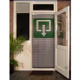 Liso ® 112 Vliegengordijn met symbool: Uitgang - Doe-het-zelf pakket | Prijs / m²