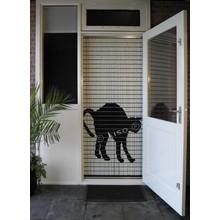 Liso ® 116 Vliegengordijn met Zwarte kat - Doe-het-zelf pakket | Prijs / m²