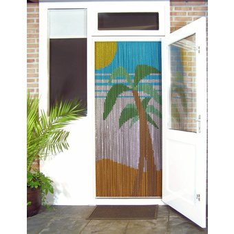 Kettinggordijn Liso ® Kettinggordijn | Vliegengordijn kant en klaar 92x209 Palmbomen