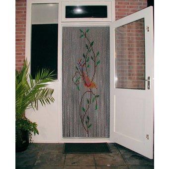 Kriska ® Kettenvorhang   Fliegenvorhang bereit für den Einsatz 92x209 Vogel