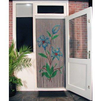 Kriska ® Kettenvorhang | Fliegenvorhang bereit für den Einsatz 92x209 Blumen