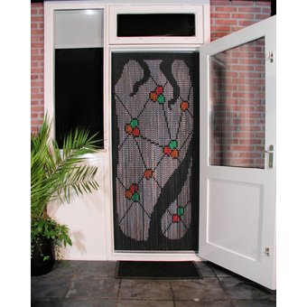 Kettinggordijn Liso ® Kettenvorhang | Fliegenvorhang fertig 92x209 Gaudi dunkel - OUTLET