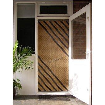 Miami ® Fliegenvorhang Miami DIY Paket Stripe Wood Look   Preis pro m²