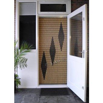 Miami ® Vliegengordijn Miami DHZ-Pakket 3 ruiten Woodlook | Prijs per m²