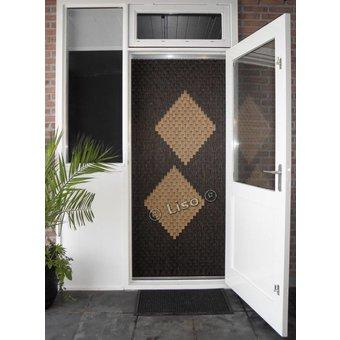 Miami ® Fliegenvorhang Miami DIY Package 2 bloks Woodlook | Preis pro m²