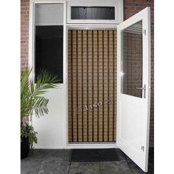 Miami ® Fliegenvorhang Miami DIY Paket Schmaler Streifen Holzlook | Preis pro m²