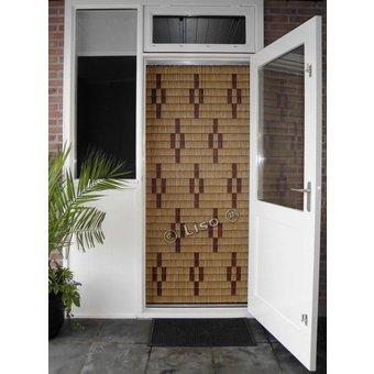 Miami ® Vliegengordijn Miami DHZ-Pakket Sterren Woodlook | Prijs per m²