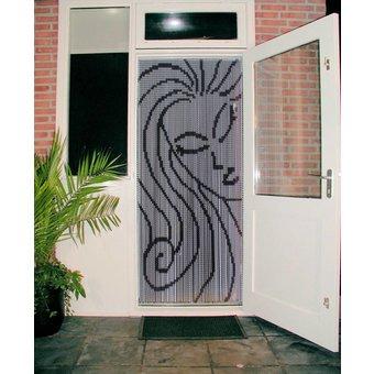 Kettinggordijn Liso ® Kettenvorhang | Fliegenvorhang fertig 92x209 Bella Donna - OUTLET