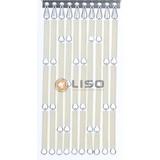 Liso ® Fliegenvorhang Creme - DIY-Paket Preis pro m²