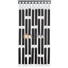 Liso ® Vliegengordijn Zwart - Doe-het-zelf pakket / m2