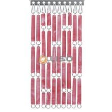 Liso ® Vliegengordijn Rood/roze gevlamd - Doe-het-zelf pakket / m2