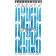 Liso ® Vliegengordijn Blauw gevlamd - Doe-het-zelf pakket / m2
