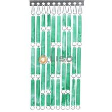 Liso ® Vliegengordijn Groen gevlamd - Doe-het-zelf pakket / m2