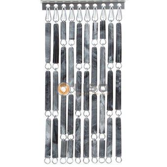 Liso ® Fliegenvorhang DIY-Paket Liso® Grau geflammt