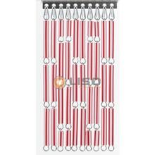 Liso ® Vliegengordijn Rood/wit gestreept - Doe-het-zelf pakket / m2