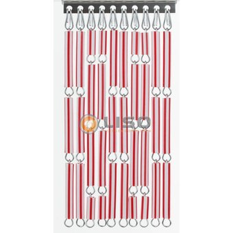 Liso ® Vliegengordijn DHZ-Pakket Liso® Rood/wit gestreept