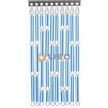 Liso ® Vliegengordijn Blauw/wit gestreept - Doe-het-zelf pakket / m2