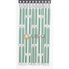 Liso ® Vliegengordijn Groen/wit gestreept - Doe-het-zelf pakket / m2