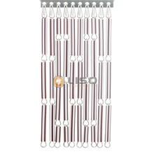 Liso ® Fliegenvorhang braun / weiß gestreift - Do-it-yourself-Paket / m2