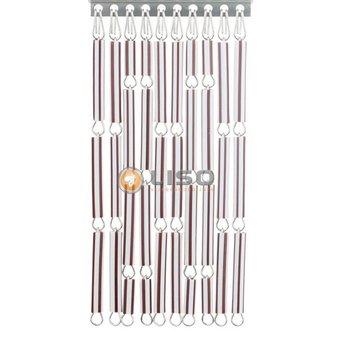 Liso ® Fliegenvorhang DIY-Paket Liso® Braun / Weiß gestreift