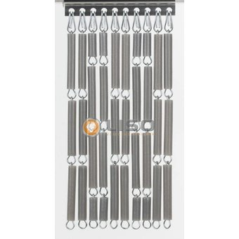 Liso ® Fliegenvorhang DIY Liso® Silber Metallic Paket