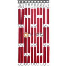 Liso ® Vliegengordijn Bloedrood - Doe-het-zelf pakket / m2