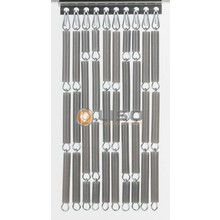 Liso ® fliegenvorhang-Silber metallic - fix und fertig 92 x 209