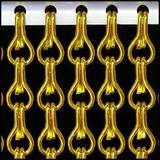 Kettinggordijn Liso ® Kettinggordijn Goud: Op maat gemaakt | Prijs per m²