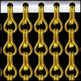 Kriska ® Kette Vorhang Gold: Nach Maß | Preis pro m²