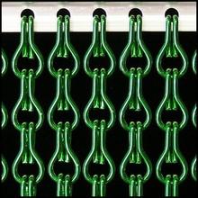 Kriska ® Kettinggordijn Donkergroen: Op maat gemaakt | Prijs per m²